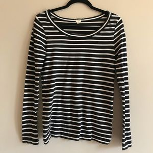 J. Crew scoop neck striped long sleeve s